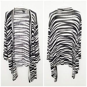 Torrid zebra animal print cardigan 2x draped